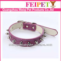 Thin Leather Spiked Training Dog Collars