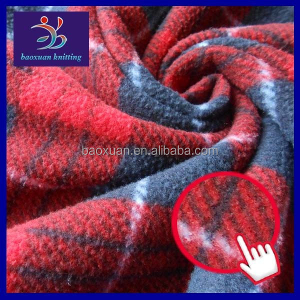 100% polyester polar fleece weft knitted fabric