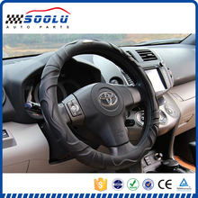 Colorful leather car 15 inch steering wheel cover