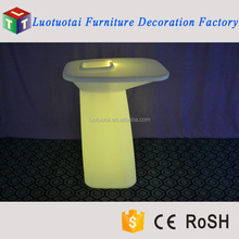 Alibaba China LED illuminated furniture bar table for party/events/wedding