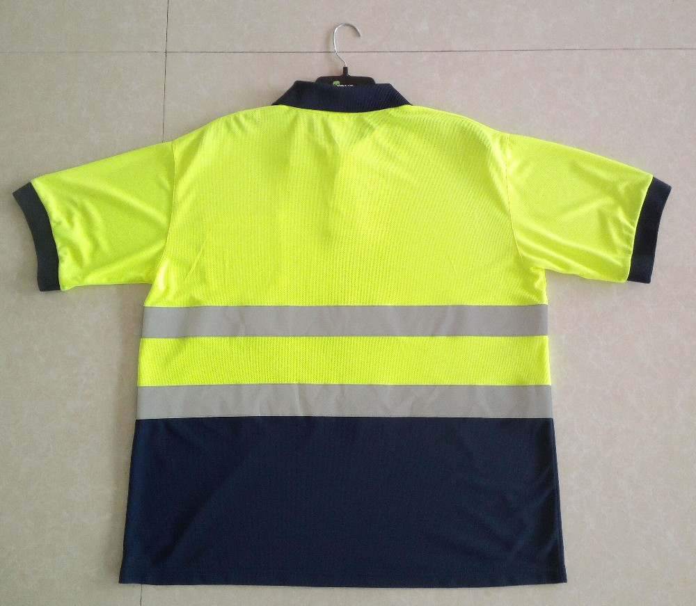 High visibility polo t shirt hi viz shirt security shirt for Hi vis polo shirts with pocket