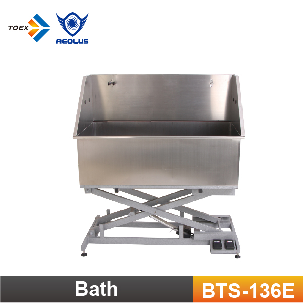 BTS-136E Electric Lifting Dog Washing bathtub Stainless Steel Welded Pet Products