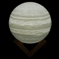 China supplier latest 3D print jupiter lamp 7colors change LED 3D night light with pat