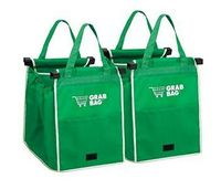 Free Shipping 100set/lot As Seen On TV GRAB BAG Clip to Cart Reusable Shopping Grocery Bag