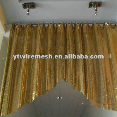metallic cloth/metal mesh fabric/hotel metal curtain