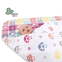 MIKAQI 100% cotton baby blanket six-layer gauze baby blanket