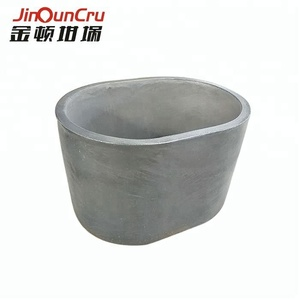 elliptical silicon carbide graphite crucible for melting cast iron