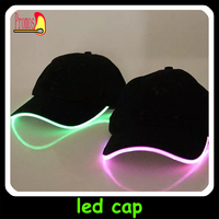 china wholesale baseball caps with led lights