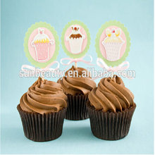 2015 coffee cup shaped cake paper ,cake wrapping paper