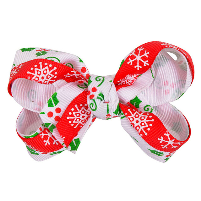 2 Inch Hairbows Boutique Giant Grosgrain Kids Hair Bow For Christmas Decoration