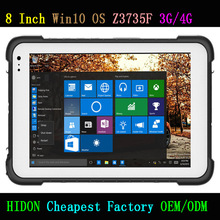 HIDON Cheapest Factory 8 Inch Rugged Tablets Intel Bay-Tray Z3735F WINDOWS10 or ANDROID OS with GPS and NFC 1D Barcode Scanner
