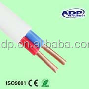 2 core solid copper PVC insulated low voltage electric cable BVVB Cable