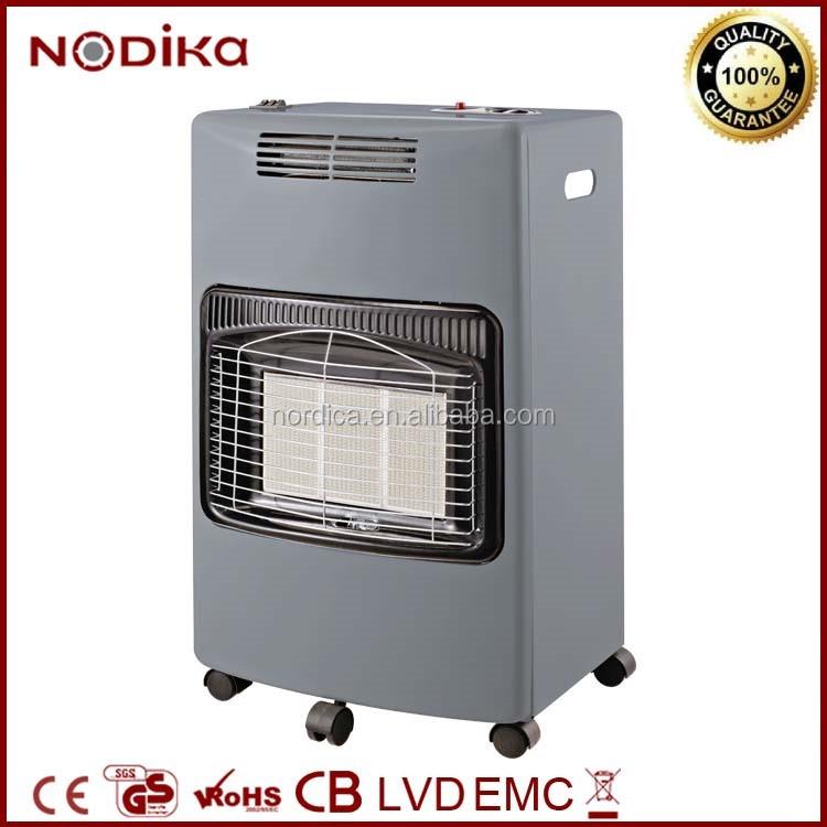 Portable small gas room heaters Safety system , Gas cabinet heater fan with room oxygen sensor