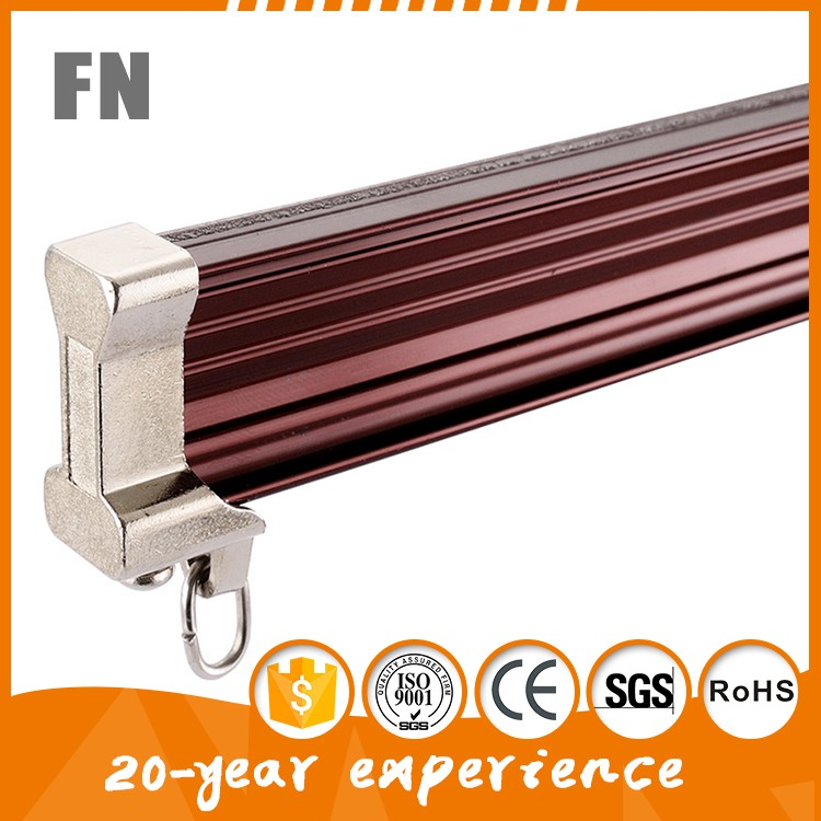 Ceiling Mounted Aluminum Hospital Curtain Rail , Bending curtain track