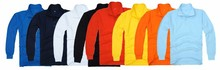 solid color polo in stock long sleeve cvc double mesh polo t shirt in promotion rice