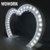 heart archway decorative lamp metal lights for wedding props