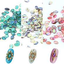 2015 new 3D nail accessories natual abalone shell jewelry stone for nail art decoration ZX:CNS01