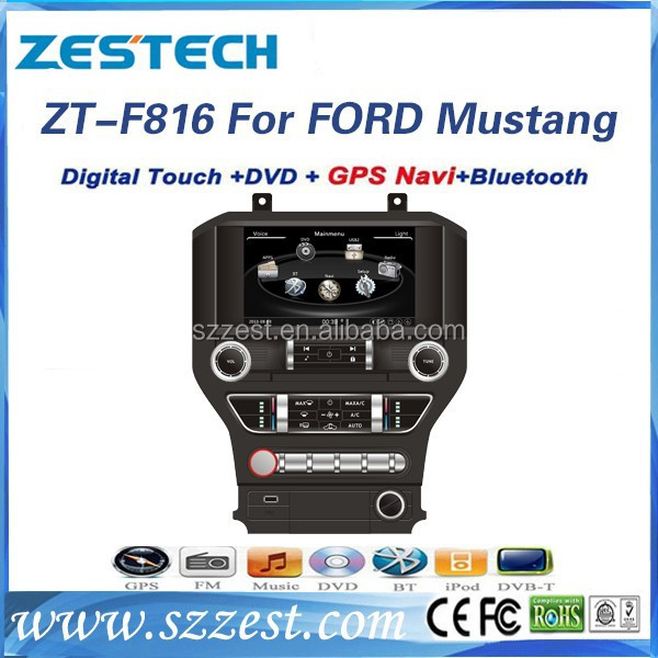 ZESTECH 2 din dvd stereo car player in dash car gps player for Ford Mustang