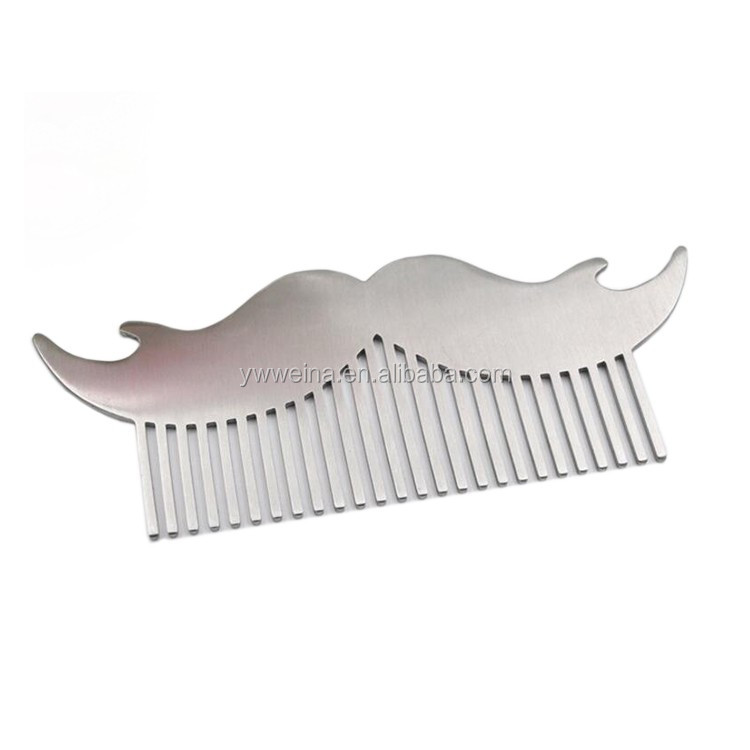 Customized Logo Stainless Steel Beard Shaping Tool Beard Styling Template