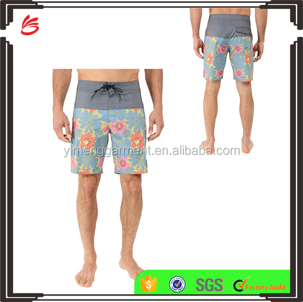 Wholesale custom 100% polyester shorts casual swimwear swim shorts men 2017