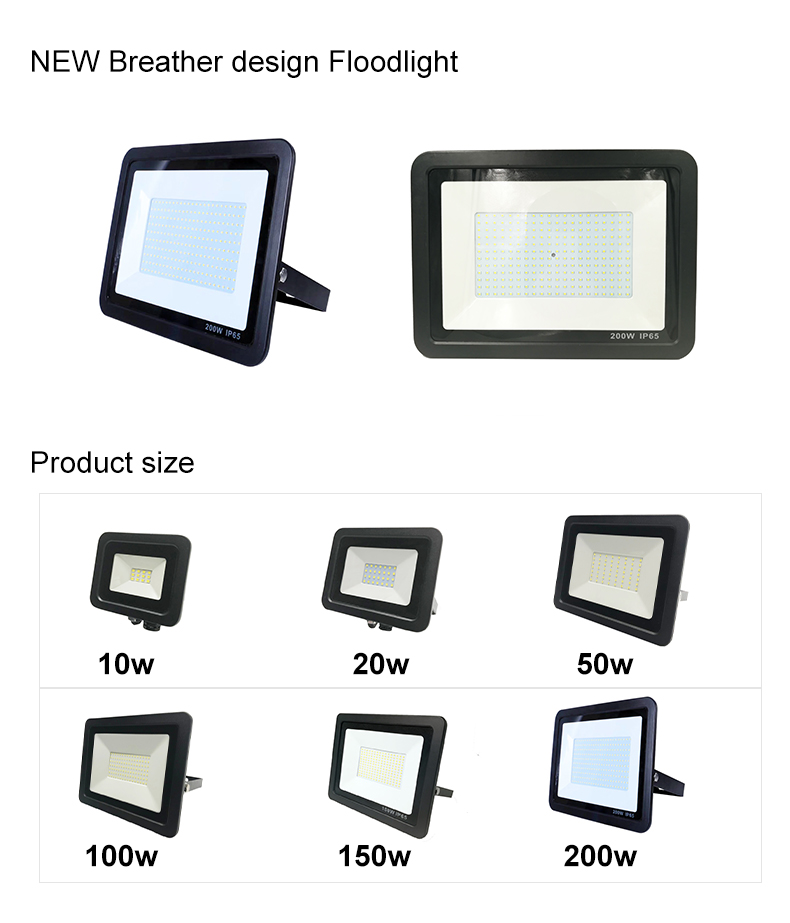 Newest Product waterproof IP66 IP67 Smd 50w 100W 200W Outdoor Led Flood Light with Breather Valve