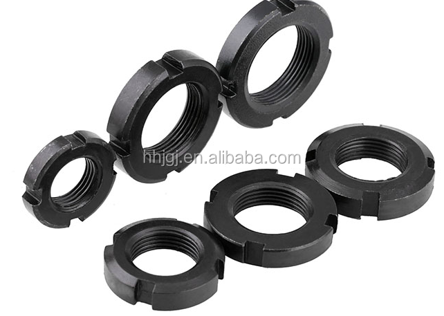Factory <strong>price</strong> din981 carbon steel grade 8 slotted round nut DIN981 Slotted Round Shaft Nuts