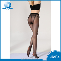 women's black sheer polyester nylon spandex hot selling fashion pantyhose tights