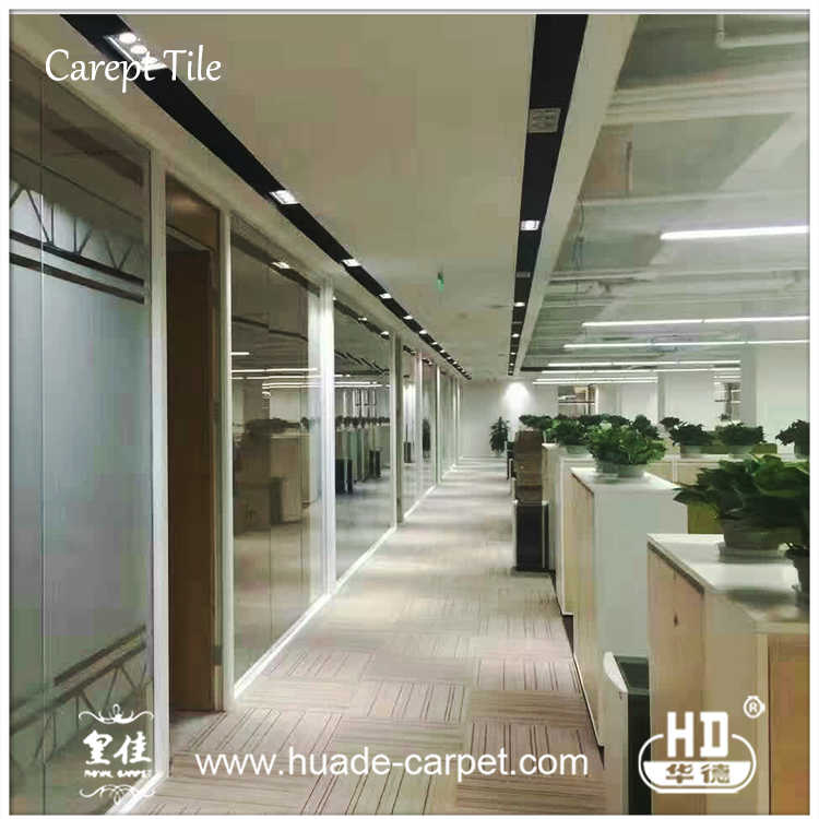 2017 New Design Plain Color Anti-Slip Flooring Carpet Tiles