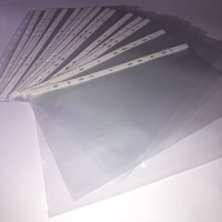 Office supplies wholesale 11 hole a4 clear waterproof document sheet protector(Manufactory)