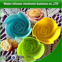 Colorful rose silicone cake mold