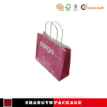 Quality removable logo print wine paper bag