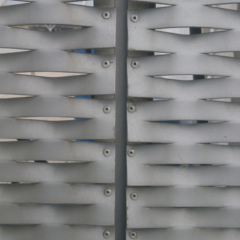 Walkway decorative aluminum expanded metal mesh panels