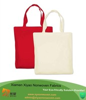 Tote bag with custom printed logo cotton folded shopping bag