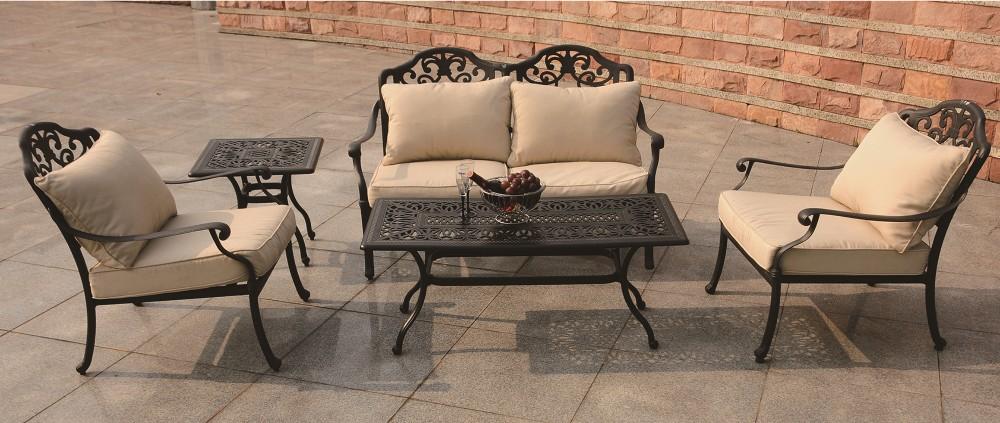all weather resistente rotondo tavolo da pranzo e sedie patio ... - Metallo Patio Tavolo E Sedie Rotondo