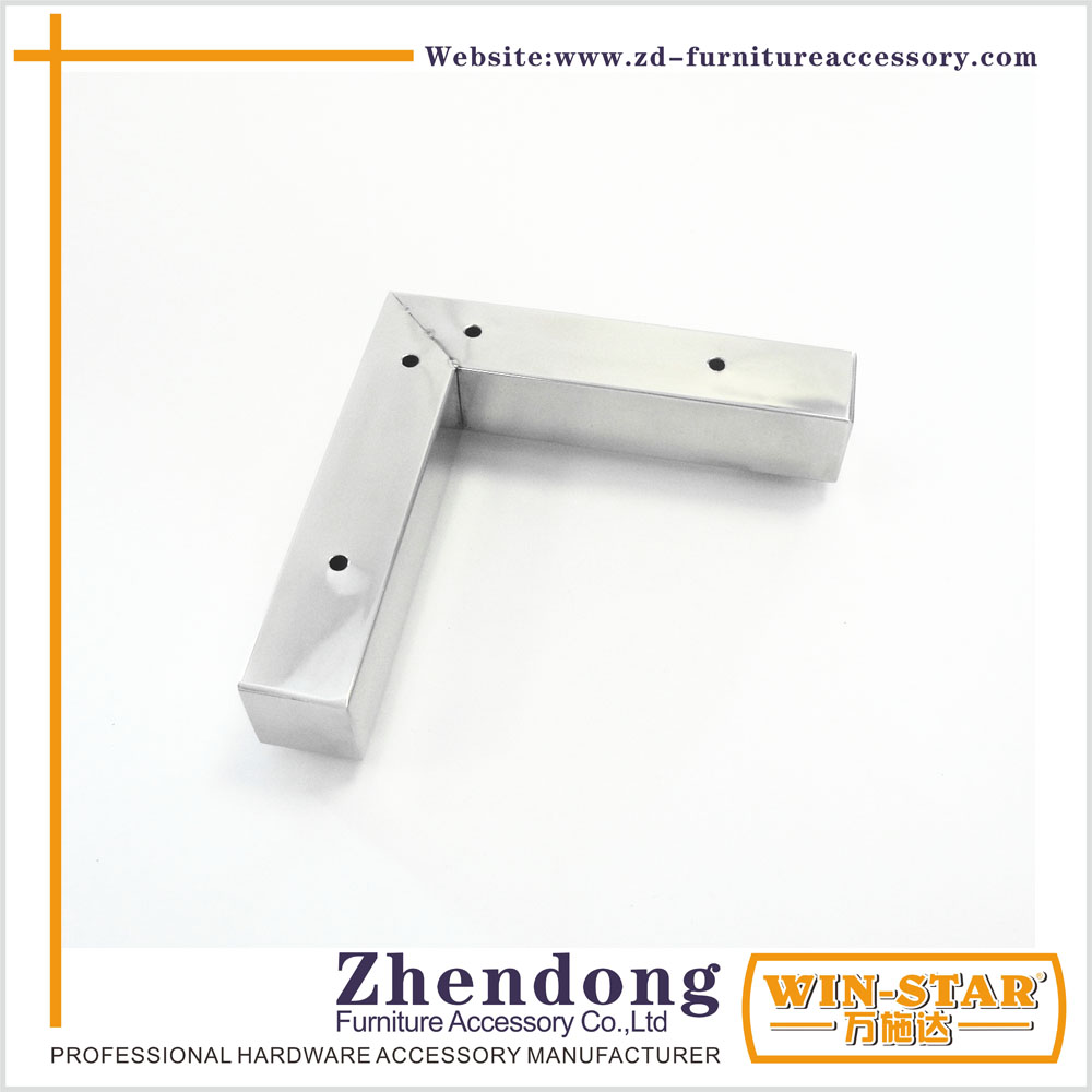 Modern Metal L Shape Sofa leg For furniture fittings