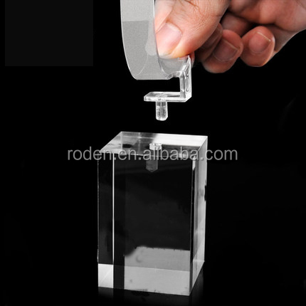 watch holder Top clear acrylic watch display stand plexiglass watch display block with c-ring