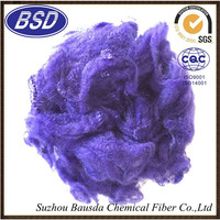 Regenerated dope dyed Polyester Staple fiber used for automotive interior