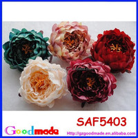 artificial fabric flower for dress hair decoration wedding flower peony flower bouquet material