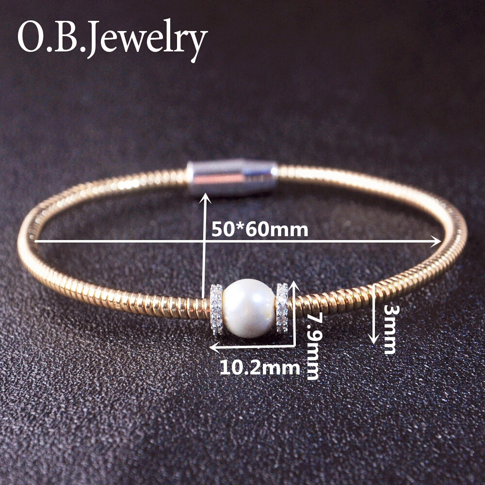 Customization 18K gold plated jewelry charm magnet bracelet for Unisex