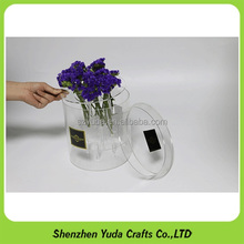 Fabricate removable acrylic round flower boxes with lid