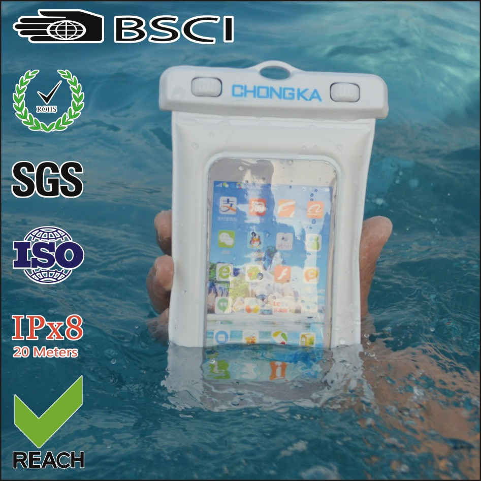 New design cellphone bag water proof plastic pvc waterproof phone case