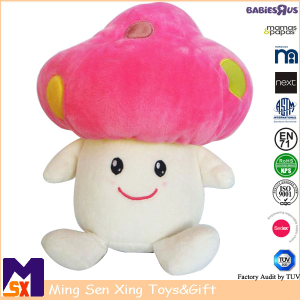 Cute Soft Plush Vegetable Mushroom Toy for Kids