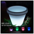 Newest modern plastic garden glowing flower pots outdoor with remote control switch control