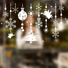 2016 new designs of removable christmas angel pendant PVC material stickers for window decoration
