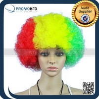 cheap colorful football fans wig party hair wigs explosive hairpiece