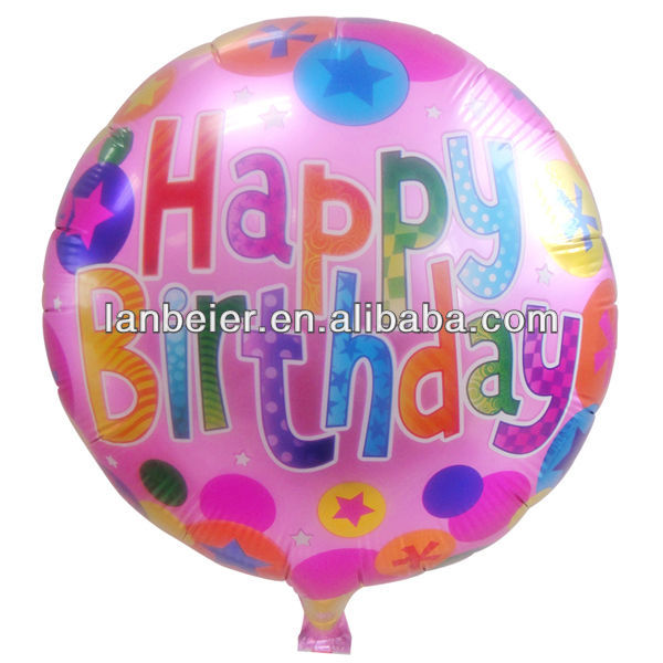 18 inch metalic color balloons birthday