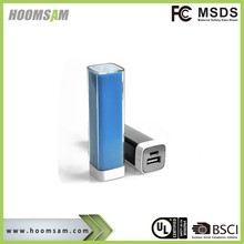 BSCI factory lipstick power bank gift 2200mah protable charger