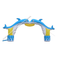 Hot selling romantic advertising inflatable entrance arch for wedding