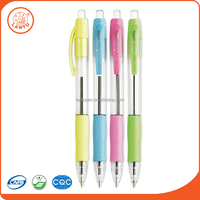 Lantu Most Popular Promotional Cute Plastic Ball Pen With 4 Colours For Students