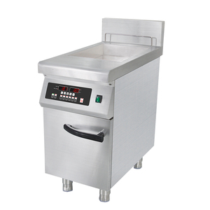 8.0kW 16L Commercial Twin Pan Induction Fryer